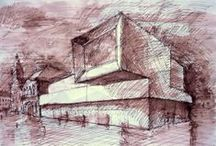 architectural artworks / most of the drawing done for shcool.
