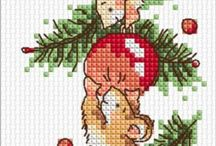 Crocette a Natale / Punto croce