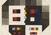 """Goethe's Zur Farbenlehre / Atlas from Goethe's attack on Newton's theory of colors. """"nebst einem Hefte mit sechzehn Kupfertafeln""""."""