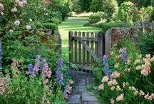 Wiejskie ogrody / sielskie ogródki stylizowane na rustykalne