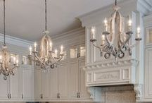 Chandeliers in design / A bunch of cool ideas that we love to use chandeliers in all sorts of places. If you'd love to have chandeliers but don't know how to fit them in or where to fit them, check out some of the great ideas on this board.
