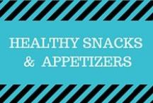 Healthy Snacks and Appetizers / Creative yet simple recipes for healthy snacks including fruits, veggies, protein bars, fruit popsicles,  plus great appetizer ideas for your next party!