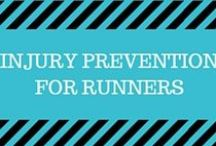 Injury Prevention for Runners / Check out some great exercises to prevent common injuries runners face: shin splints, stress fractures, knees, hips, IT band, plantar fasciitis, tendinitis, and more!
