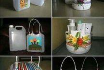 Envases de plástico reciclado