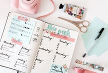 Bullet Journal  / Inspiration to be organized.