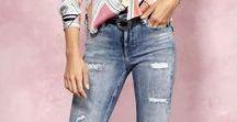 Geschmückte Jeans ♡ ALBA MODA / Die neuen Jeans sind da!  Lasst euch verzaubern von Perlen-Stickereien, Paillettenstreifen oder Nieten-Verzierungen Unsere Jeans-Lieblinge werten mit wunderbaren Schmuckdetails jeden Look auf :) Styles entdecken: http://bit.ly/2nhau0D