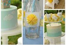 Birthday Parties - Kids / Pastel blue and yellow kids birthday