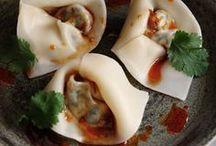 dumplings, wontons, potstickers, buns.