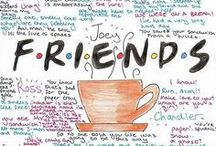 F.R.I.E.N.D.S / Fave Series / Just a board with my favourite shows.