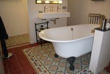 Cement tiles Bathroom / Cement tiles, floor tiles, wall tiles, bathroom