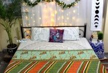 Kantha Quilts, kantha Bedspread, kantha bedding, kantha Blankets and throws / Indian Kantha Quilts are perfect to décor your bedroom. Floral Kantha Quilts are ethnic boho bedding handmade in India. Kantha is embroidery with hand stitching and is done on clothing, pillows, and quilts. Quilts come in king, queen and Twin size. Kantha Quilt is also made with vintage fabric. Add bohemian, vintage styling to your  bedroom with modern kantha bedspread and blankets. Kantha throw makes perfect wall hanging as well. Kantha is famous textile art.