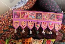 Decorative Door Hanging / These are Beautiful Indian Toran / Door Valance / Tapestry/ Pelmet Topper decor covered with ethnic embroidery. These are made from Vintage old patches, valuable wedding saris & dresses.