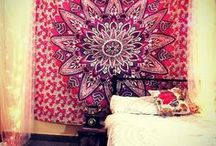 Tapestries - Mandala, Elephant, Hippie and Bohemian / Bohemian and Hippie Inspired home decorating idea with Wall Tapestry. Popular for mandala tapestry bedroom ideas.