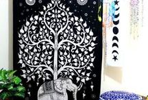 Tapestry Curtain / Wall Tapestry curtain is easiest way to decor your your wall, window and curtain. This gorgeous curtain can be ued as window cutain, door curtain or wall hanging for cool home decor.
