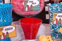 Super Hero Party Theme / Even super heroes need to be sweet sometimes #candy #superhero #party #partyideas