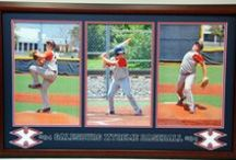 Sports Frame Displays / Sports shadow boxes and frames we have custom designed.