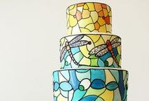 Painted and Stained Glass Cakes