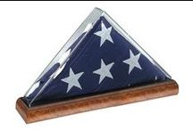 Acrylic Flag Cases / Stand Alone & Wall Mounted Acrylic Flag Cases Guaranteed To Make Any Burial Flag Shine