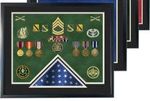 Flag Case w/ Shadow Box Display / Combination Flag & Shadow Box Displays.  Combine All Your Memorabilia & Your Flag Into One Awesome Display!