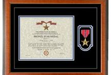 Military Certificate & Diploma Frame Displays / We Can Customize Frames For Certificates & Diplomas Of All Occasions. ( Military, School, Professional, etc. )