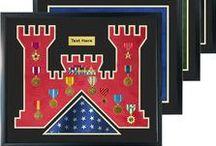 Ceremony / Retirement / Guidon Flag / Service Flag Frame Displays For Sale