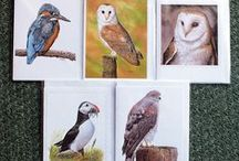 Greeting Note Cards / Greeting cards also known as note cards are another way of showing off your artwork. These lovely birds and animals greeting cards are kept blank so you can use them for most occasions.