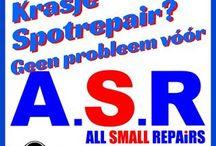Autoschade alternatieve reparatie methode. Restylen, spotrepair, kleinschade herstel, leerspuiten, brandgaatjes in bekleding, dashboard reparatie, deurpanelen herstellen. / ASR All Small Repairs. 06-53378735 Alkmaar