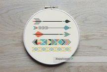 create | cross stitch + embroidery