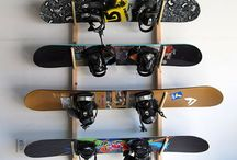 Snowboard storage