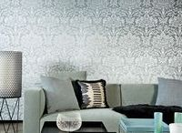 DAMASKS - designer fabrics and wallcoverings / Damask designs are generally known as being traditional but the classic damask can also look very contemporary when produced in on-trend colours.  Traditional or contemporary, you decide . . . .