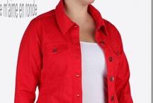 Veste en jean couleur femme