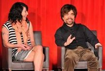 """""""Game of Thrones"""" stars and creators share an evening with Academy members / On March 20, 2013, Primetime Emmy® winner Peter Dinklage and more stars and producers of HBO series """"Game of Thrones"""" came to Hollywood's Iconic TCL Chinese Theatre to tape a behind-the-scenes special with Television Academy members. (Photos by Invision)"""