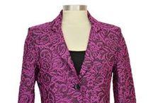 Vestes jacquard - mode femme ronde et grande taille / Une sélection de veste en jacquard. Très souples et légères, ces vestes sont fabriquées en France et disponibles du 38 au 54 sur www.doucel.com. Des articles de qualité et très tendance.