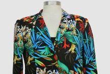 Vestes imprimées coton - Mode Femme Ronde et Grandes tailles