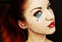 Comic Makeup  / Fun comic makeup ideas and inspiration.