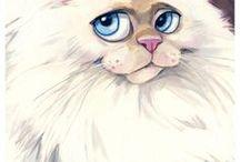 GATTI in arte (cats art) / dipinti di gatti