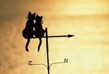 weathervanes, girouettes, banderuole
