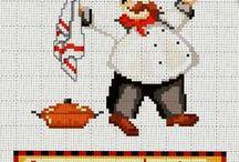 Cross-stitch in the kitchen