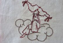 Ricamo rosso, red work, broderie rouge
