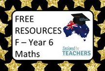 DBT FREE Maths Resources F - Yr 6 / Australian Teaching Network where Educators can share, sell and buy resources for their classrooms - Early Childhood, Primary & Secondary Education. http://designedbyteachers.com.au