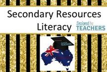 FREE Secondary Literacy Resources / Australian Teaching Network where Educators can share, sell and buy resources for their classrooms - Early Childhood, Primary & Secondary Education. http://designedbyteachers.com.au