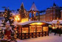 Christmas / Christmas decorations, trees, christmas decorations, lights and Christmas food