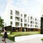 """arch_it architecture - """"13"""" multifamily residential / Low-cost multifamily residential """"13"""" in Wysoka near Wrocław, Poland. 1st prize in closed competition in 2014."""