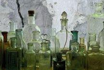 green&bleu bottels and jars