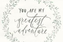 We love... LOVE / Inspiration for your wedding day details: quotes for your Save the Dates, Invitations, Favors, Decor & MORE... We love LOVE!