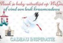 Kraamcadeaus / Ben je zwanger en op zoek naar inspiratie voor je baby-uitzetlijst? Of zoek je een leuk kraamcadeau? WeGive verzameld haar leukste cadeau ideeën hier en op http://www.wegive.nl/inspiratie/2