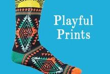 Playful Prints / Spice things up with a playful printed sock. We love that element of #sockprize.