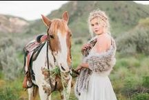 Royal Scout and Co. 2016 Bridal Collection / Fur / Royal Scout and Co.. Photography / Nicole Conners Photography. Head Pieces / Melinda Rose Design. Styling / Kara Meloy. Modeling / Isabella Dahl.
