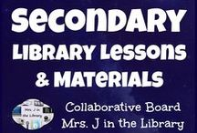 Secondary Library Lessons and Materials / A collaborative board of ideas as well as FREE and for sale resources for teaching library and information literacy / fluency skills at the secondary level, that is FOR FOR MIDDLE OR HIGH SCHOOL ONLY!  Please limit TpT product pins to *ONE* per day.  Also, please spread out similar pins out so they are not repeated over and over at the top.
