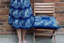 Folklore modern von Dilians Blaudruck / Dilians benutzt traditionelle Blaudruck Stoffe auch für Modedesign